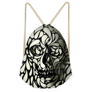 Sac tete de mort à filet vintage | Tête De Mort Passion Shop