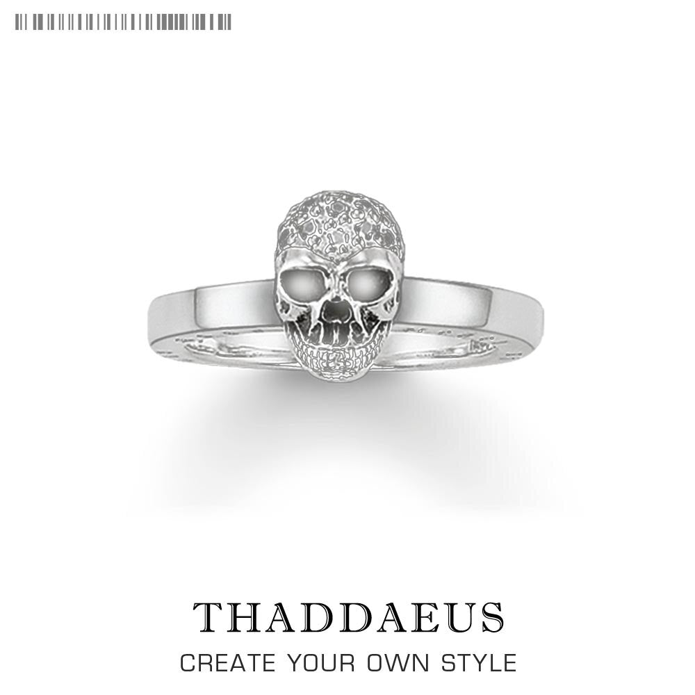 Skull White Pave Ring,Thomas Style Glam Fashion Good Jewerly For Women,2019 Ts Gift In 925 Sterling Silver,Super Deals | Tête De Mort Passion Shop
