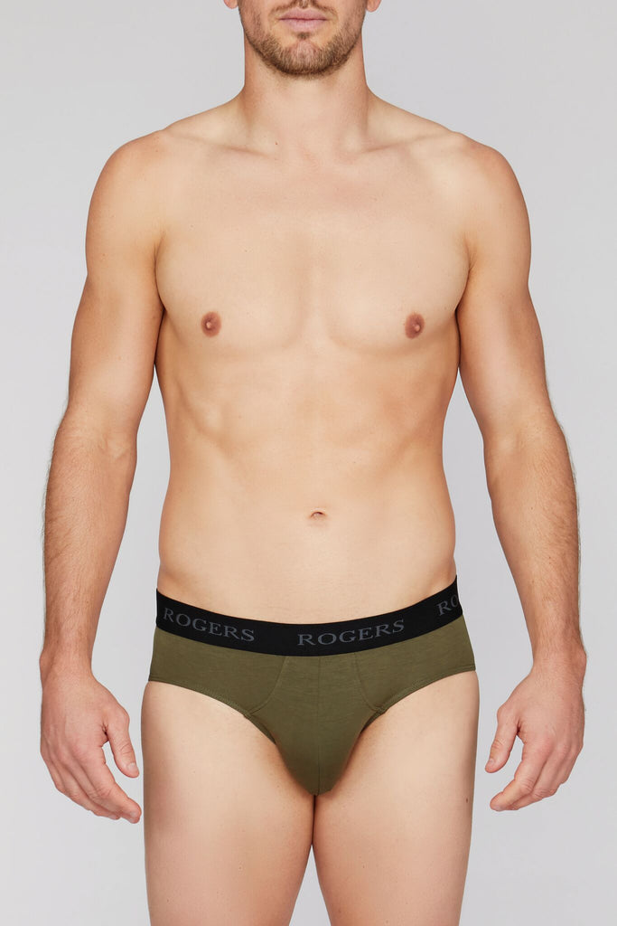 Three-Pack Modal Briefs – Black Band