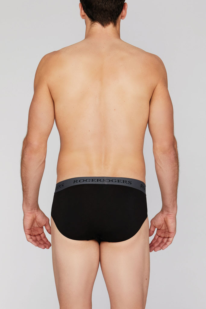 Three-Pack Modal Briefs – Grey Band
