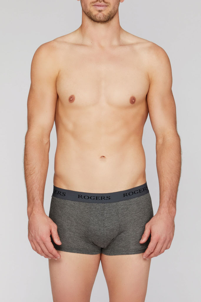 Three-Pack Modal Trunks – Grey Band