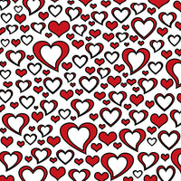Red and white hearts 8x10 sublimated hardboard