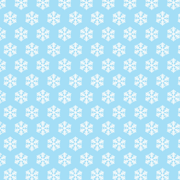 Blue with white snowflakes 8x10 sublimated hardboard