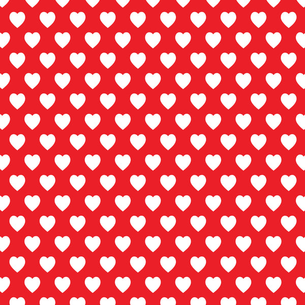 Red background hearts 8x10 sublimated hardboard
