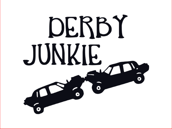 Derby Junkie 12x9 sign DIGITAL FILE ONLY