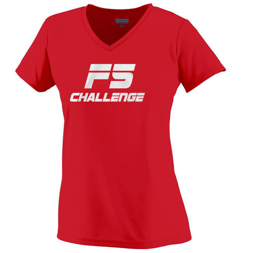 F5 Challenge Performance V-Neck Ladies Shirt