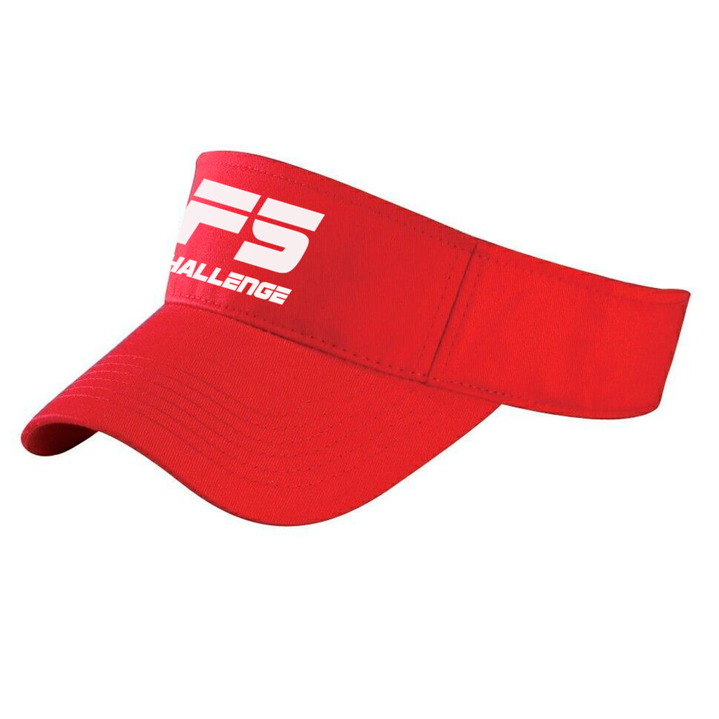 F5 Challenge Visor Hat (red)