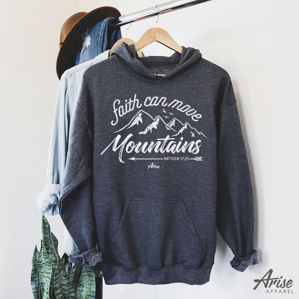 Faith Can Move Mountains Christian Hoodie Sweatshirt