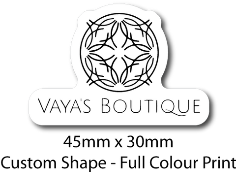 Vaya's Boutique - Sticker Sheet (Custom Shape)