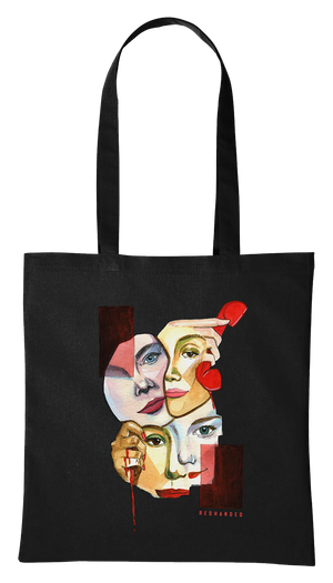 Faces Tote Shopper in Black