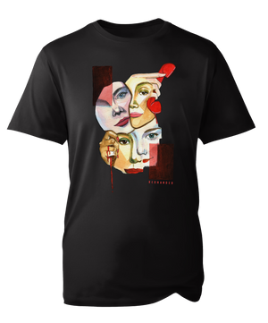 Faces T-shirt in Black