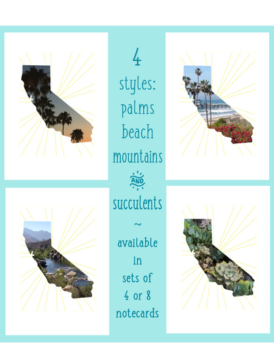California Love 4 x 6 Notecards