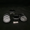 Lid Metal Black button x 6 - 66mm