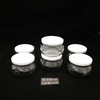 Grazing Series Fancy Jar 370ml x 6 + Lids Metal White x 6