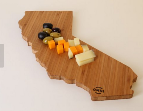 California state cutting board bamboo unique holiday gift