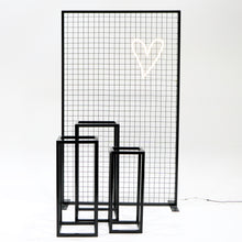 Load image into Gallery viewer, Black Wire Mesh Backdrop & Plinths