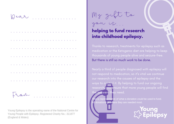 Fund research into childhood epilepsy