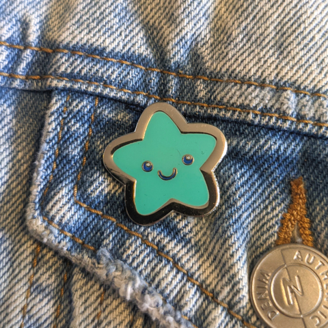 Teal Star pin
