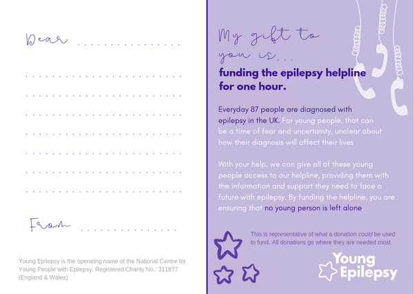 Fund the epilepsy helpline for one hour