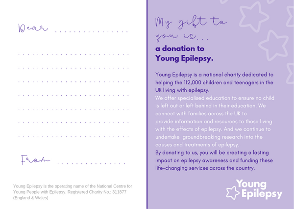 Donation to Young Epilepsy