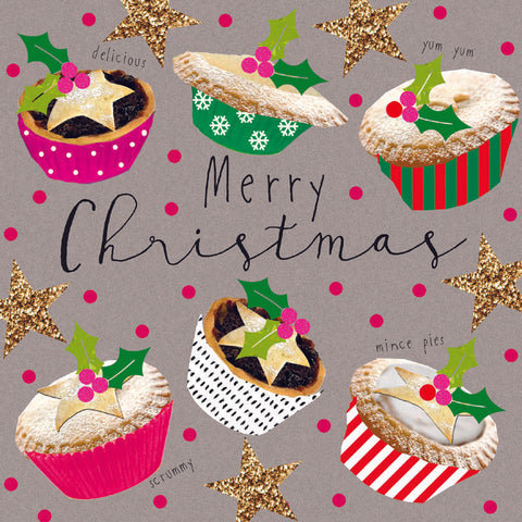 'Delicious Mince Pies' - Pack of 10 Christmas cards