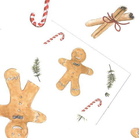 Christmas Gingerbread Men gift tag