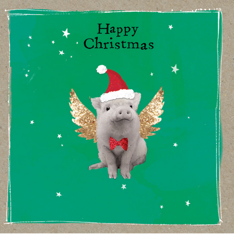 'Angel Pig' - Pack of 10 Christmas cards