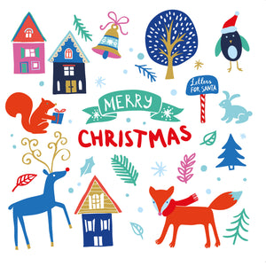 'Whimsical Christmas' - Pack of 10 Christmas cards