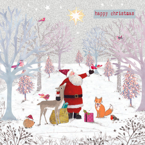 'Woodland Santa' - Pack of 10 Christmas cards