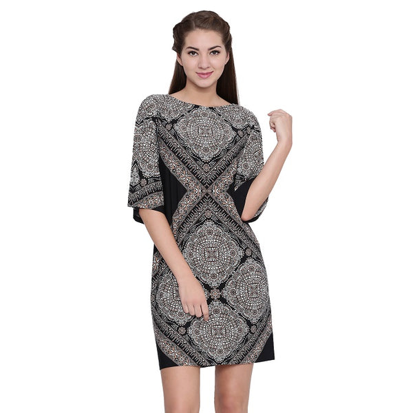 Taupe Printed Dress