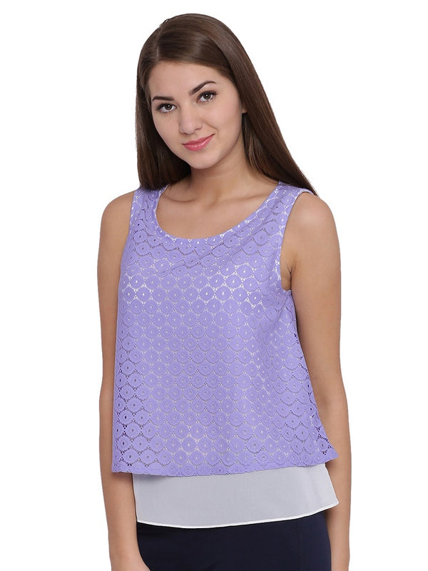 Purple Layered Top