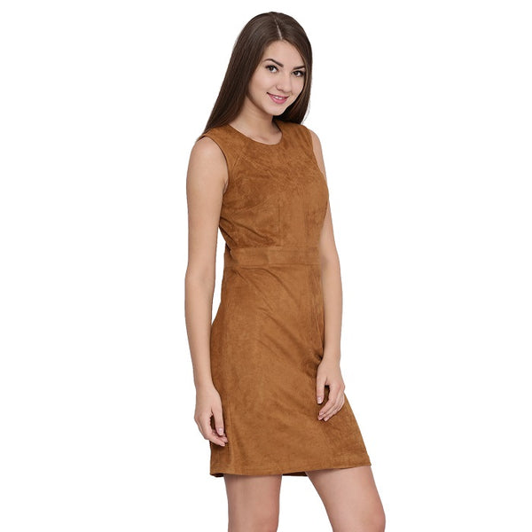 Sadie Suede Shift Dress