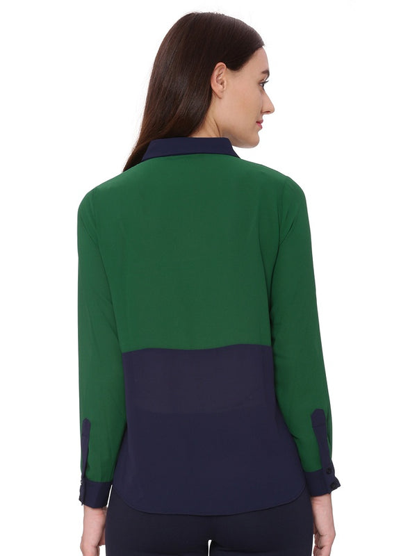 Lia Color Block Shirt