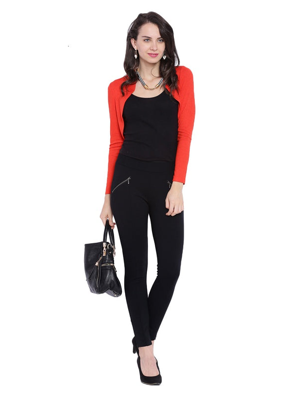 Red Long Sleeves Bolero