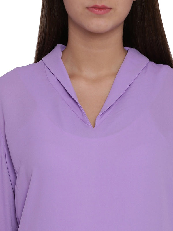 Purple Solid Blouse