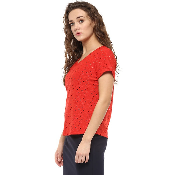 Red Hakoba Top
