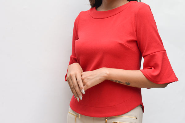 Ruffle Red Top