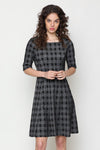 Checkered Grey Black Dress