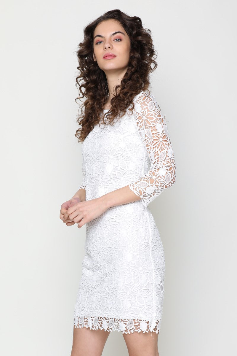 Buy White Lace Dress Online Western Dresses Online India