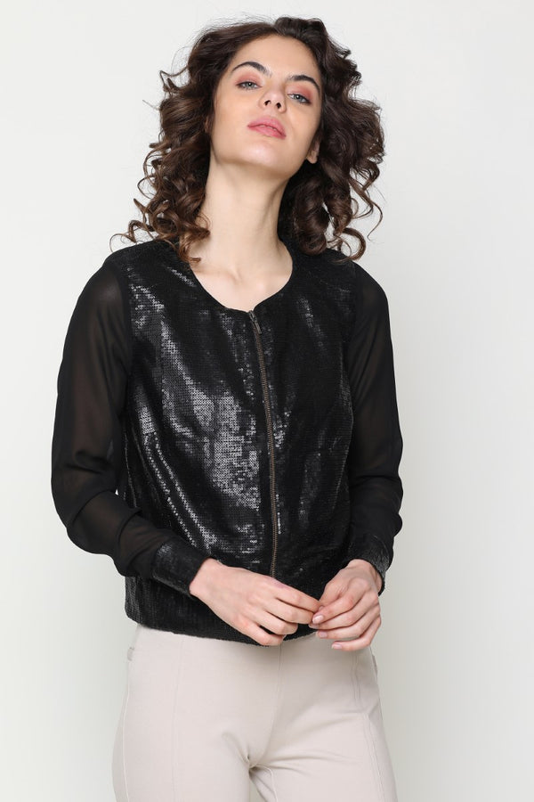 BLACK SEQUENCE JACKET