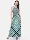 Harriet Halter Neck Dress (Turquoise Print)