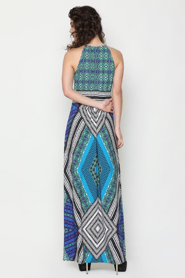 Harriet Halter Neck Dress (Sicily Print)