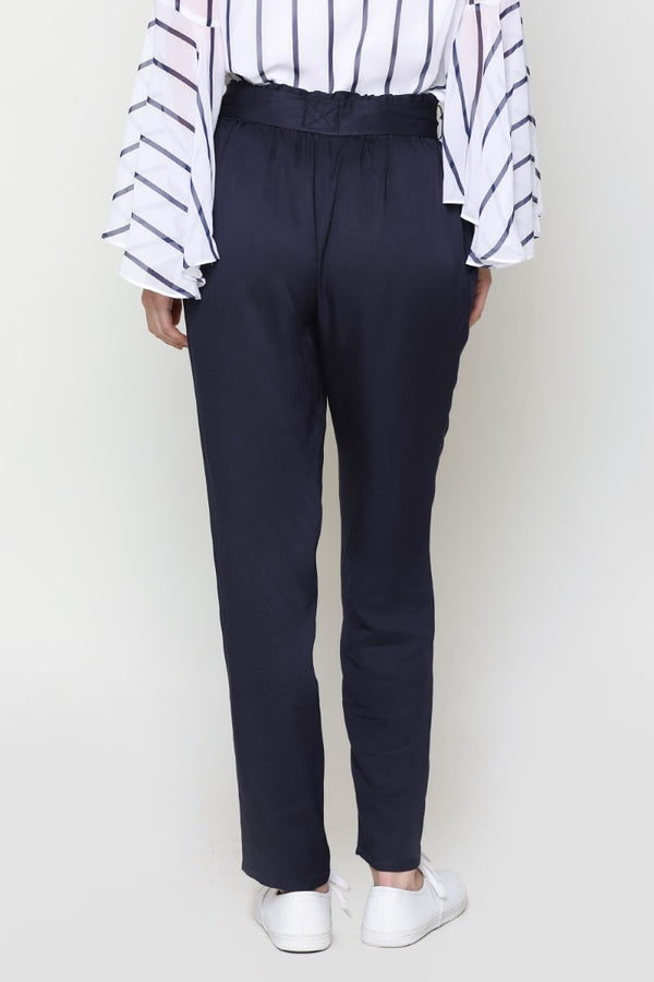 Wrapon Belt Navy Blue Trouser
