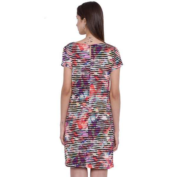 Abstract Printed Shift Dress