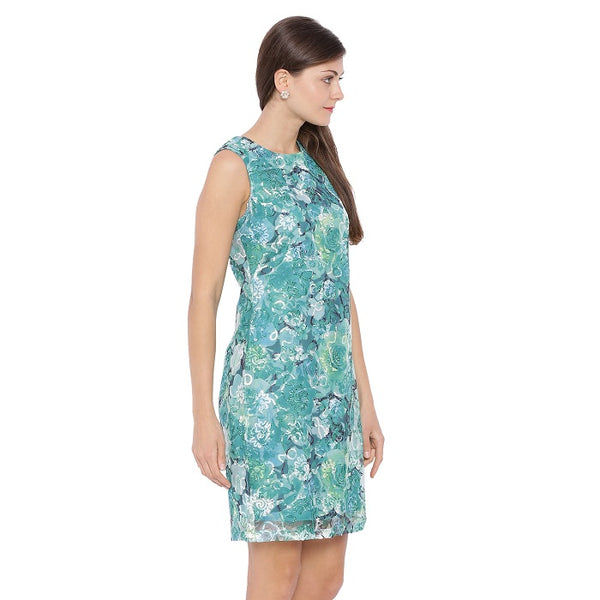 Applique Green Dress