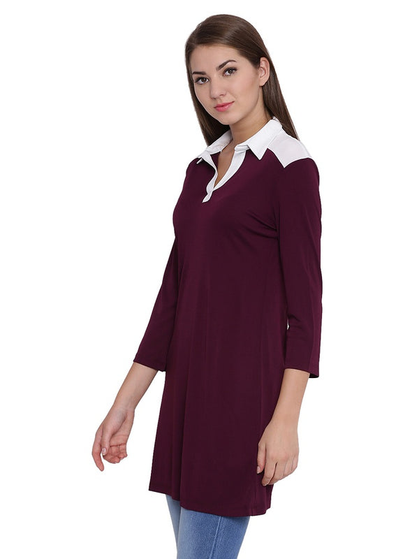 Polo Shirt Aubergine Tunic