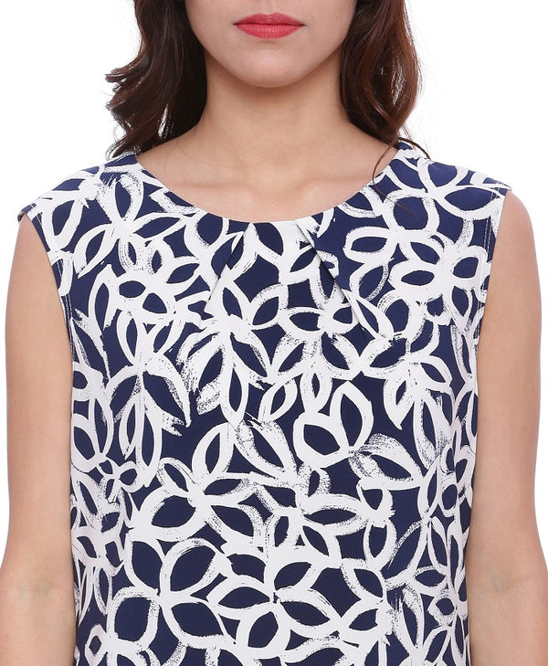 Black And White Printed Top