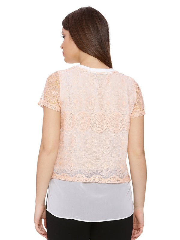 Mandy Lace Layered Top
