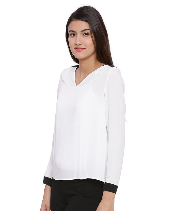 Julia White Formal Blouse