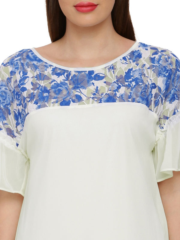 Julia Lace trim Top